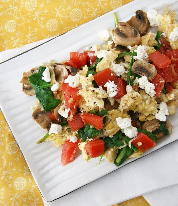 Egg White Veggie Scramble