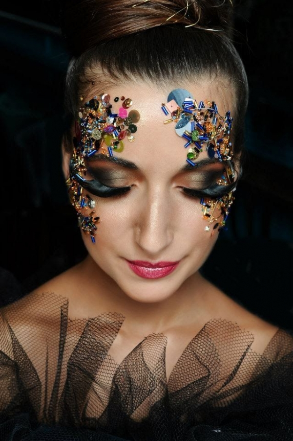 13 Sequins Beauty Or Art Stunning Avant Garde Makeup