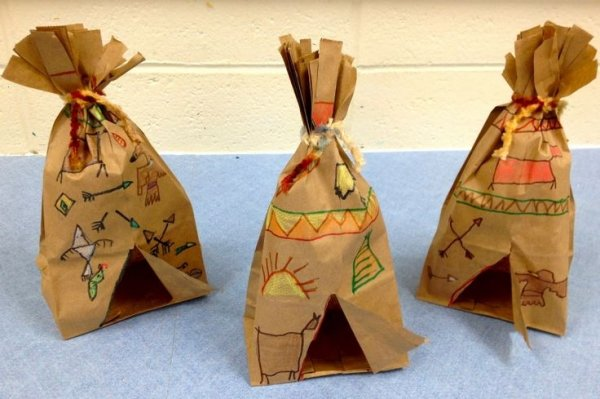 Paper Bag Pilgrim Dolls : Thanksgiving Pilgrim Crafts Projects for ...