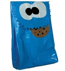 Cookie Monster Duct Tape Lunch Bag