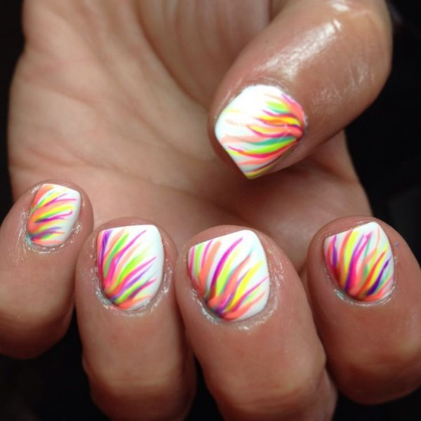 Rainbow Feather Effect