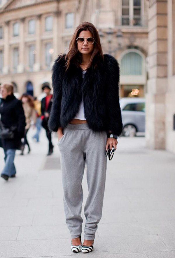 Joggers and a Statement Jacket