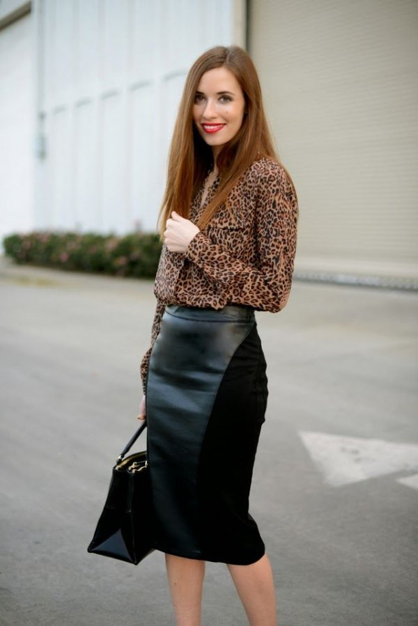 Pencil skirt with blouse – Modern skirts blog for you