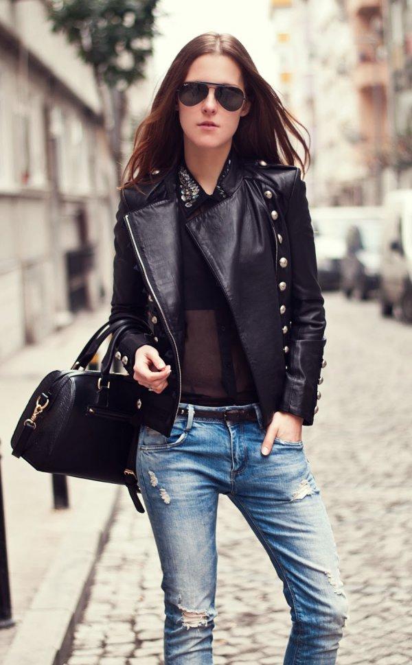 clothing, leather, denim, jacket, jeans,