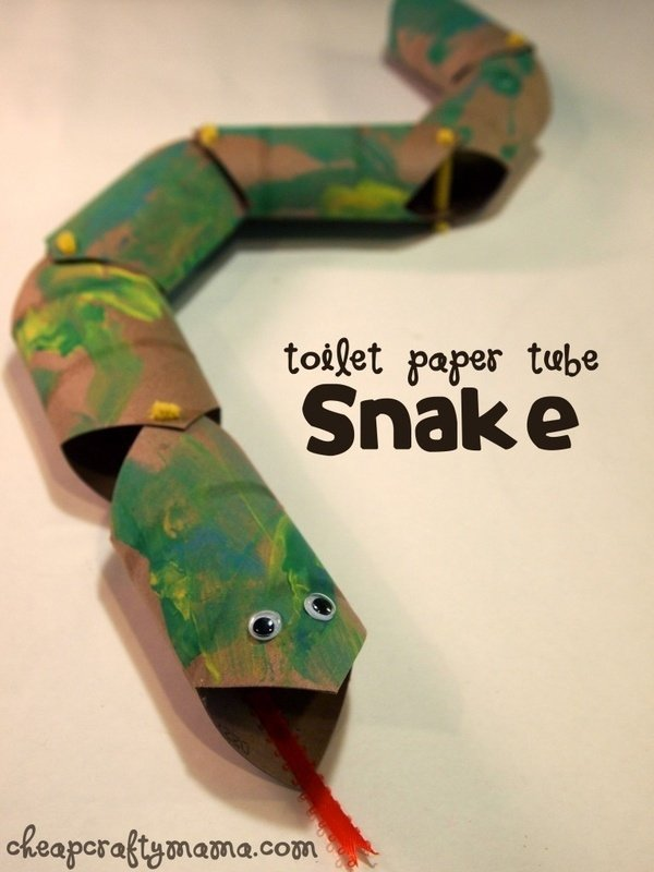 toilet paper tube snake 47 awesome kids crafts your