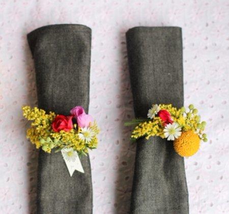 Fresh Flower Napkin Rings