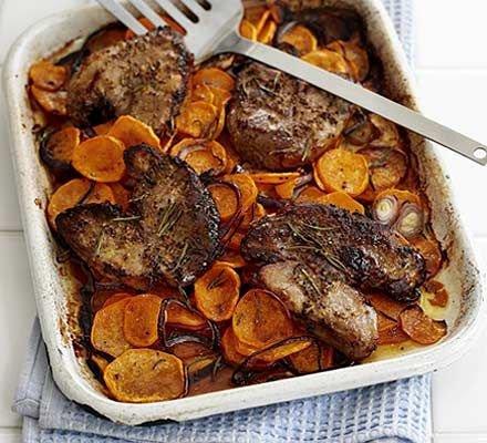 Lamb and Sweet Potato Tray Bake