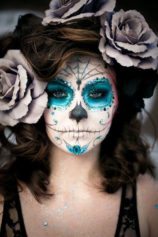 Gut bekannt Ice Blue - Hauntingly Beautiful Sugar Skull Makeup Found on… VM87