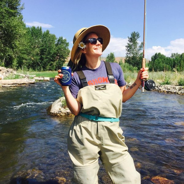 Drew Barrymore Proves Fishing is Fitness