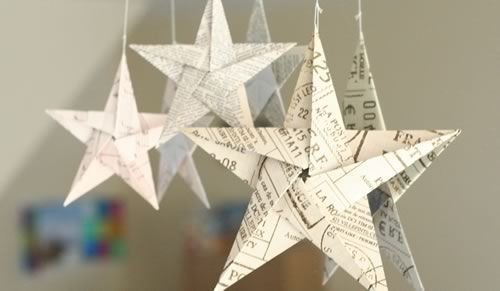 5 Pointed Origami Star Ornaments Hello Bookworm 48 Fantastic