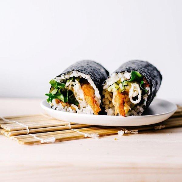 food, dish, cuisine, gimbap, sushi,