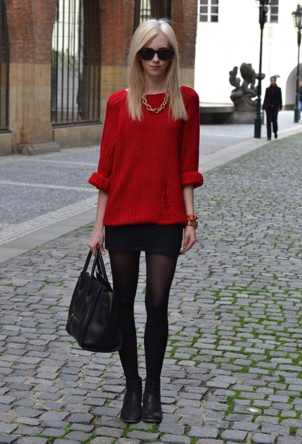 A Red Sweater