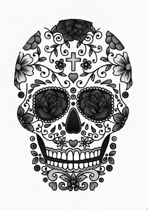 Outline - 29 Downright Awesome Sugar Skulls You're Going to Love…