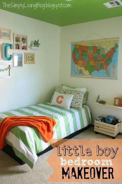 Green and orange 41 awesome little boy bedroom ideas to for Orange and green bedroom designs