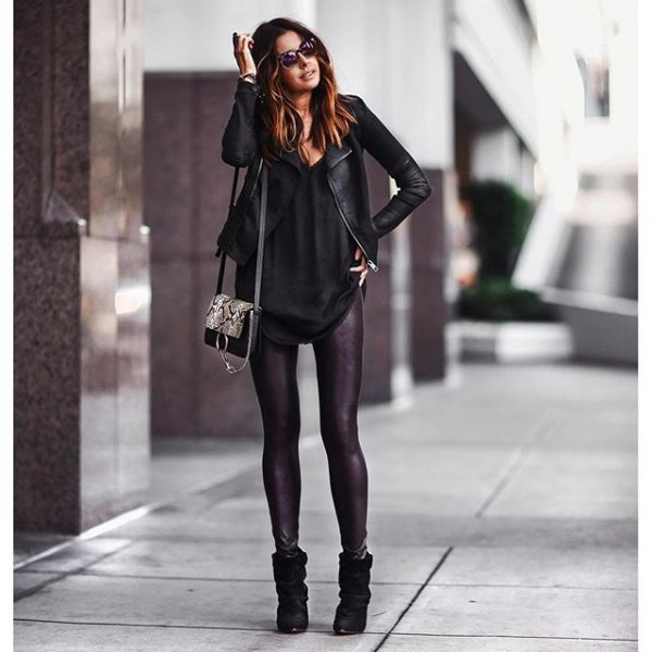 black, clothing, footwear, leather, outerwear,