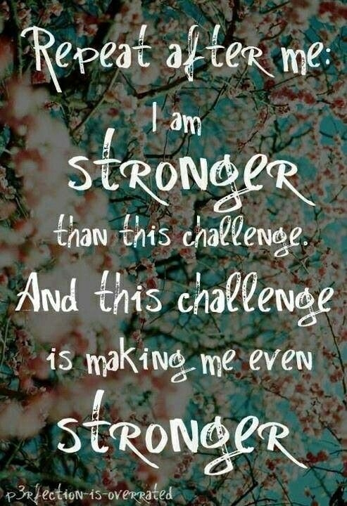 3. I Am Stronger Than This Challenge