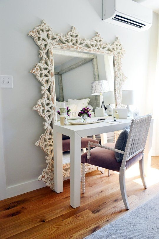 13 floor mirror turned vanity find your fantasy makeup room