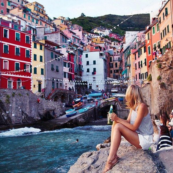 Manarola, sea, vacation, water, waterway,