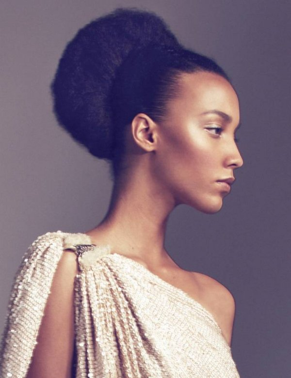 French Bun Hairstyle for Natural Hair