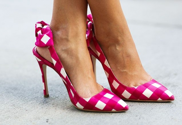 Pink Gingham Heels