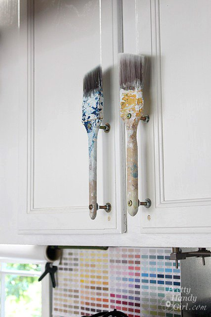 Paint brush 7 beautiful and unique drawer pulls and cabinet for Best brush for painting cabinets