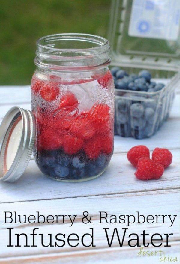 Blueberry and Raspberry Infused Water
