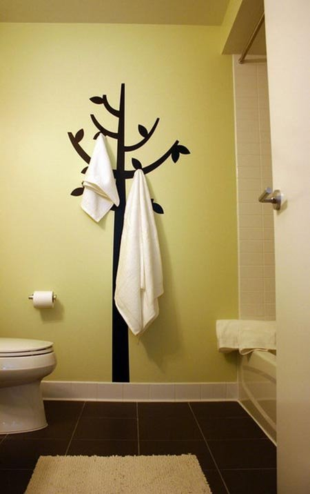 A Tree Holding Towels on Its Limbs