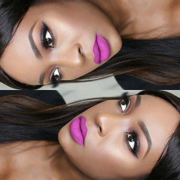 eyebrow, pink, purple, close up, black hair,