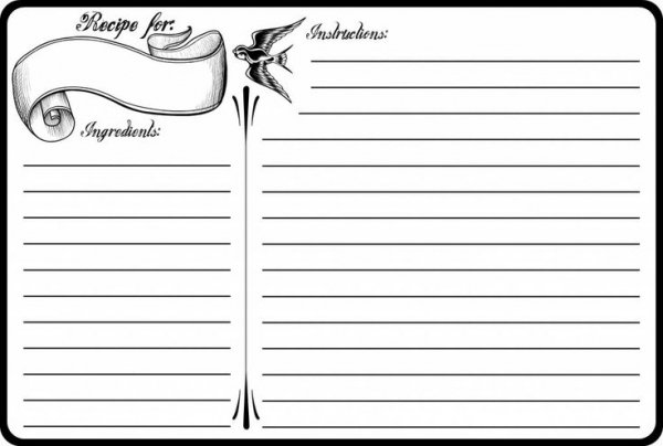 Lots of Lines 29 Recipe Cards to Inspire You in the Kitchen – Recipe Cards for Word