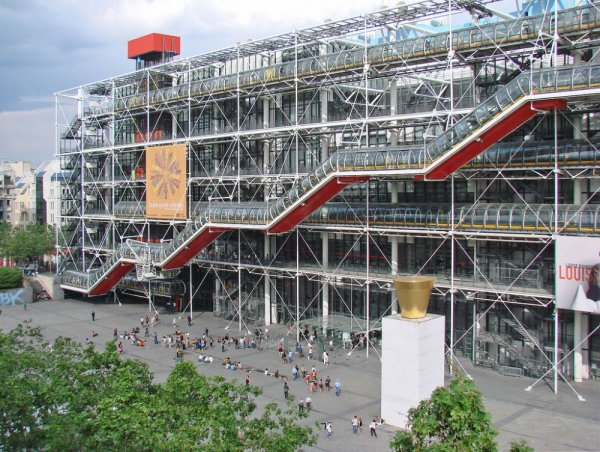 Centre Georges Pompidou, amusement ride, transport, overpass, skyway,