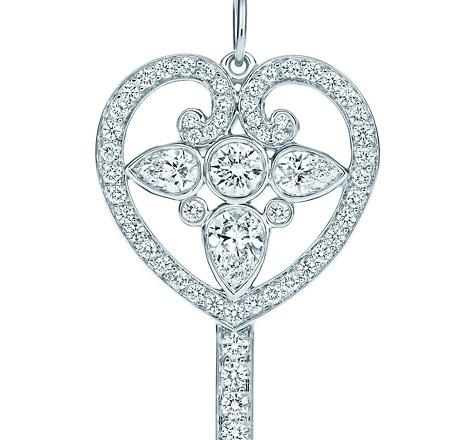 7 beautiful tiffany key pendants jewelry tiffany keys ornate heart key pendant aloadofball Gallery