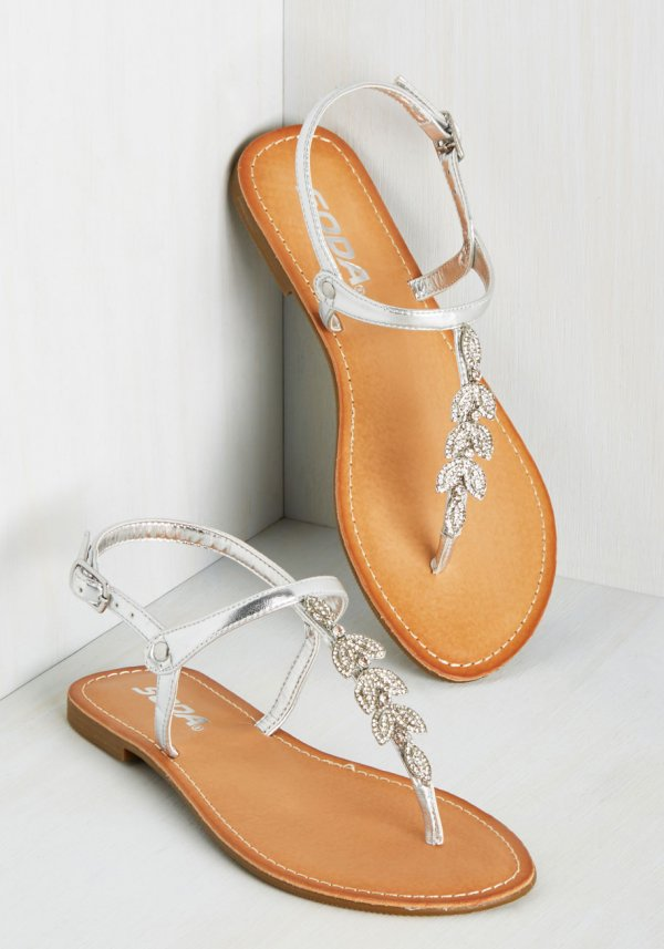 Glitz on and Poppin' Sandal