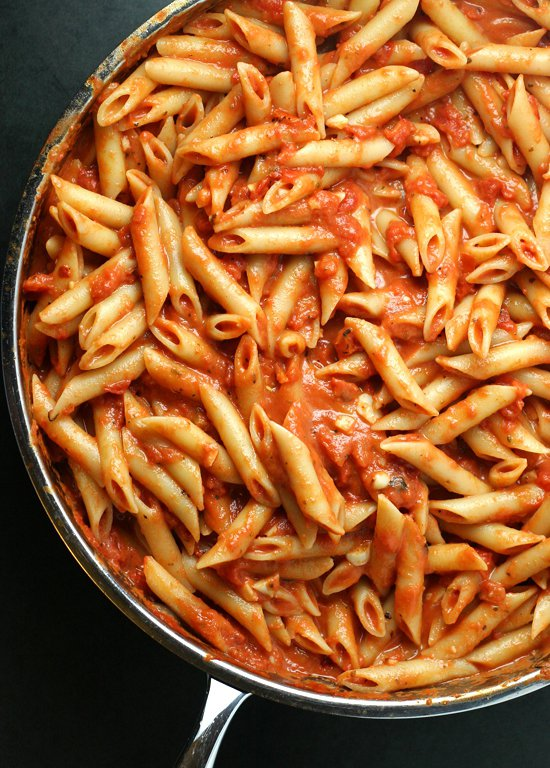 food, dish, cuisine, penne, french fries,