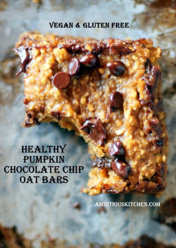 Pumpkin Chocolate Chip Oat Bars - 22 Bar Desserts Everyone Loves…