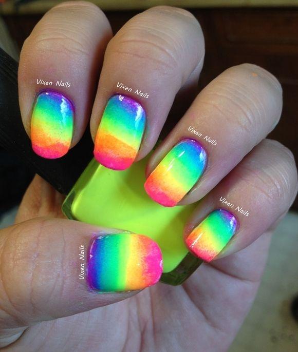 45 impresionantes razones para intentar neón de uñas de arte ...