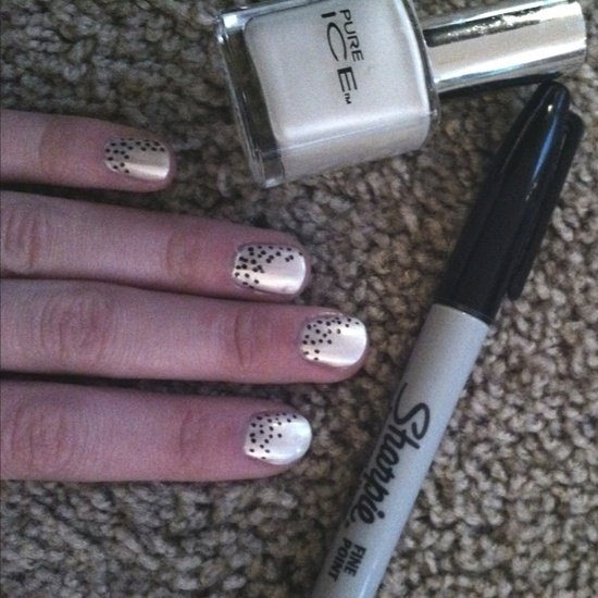 Use a Sharpie for an Easily Controllable Way to Create Nail Art