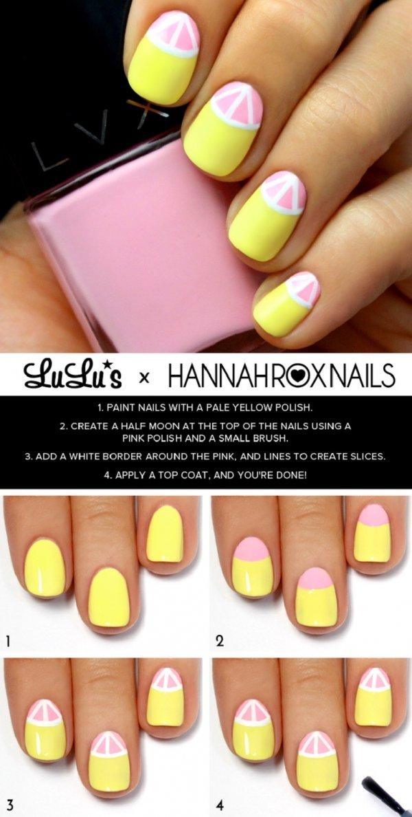 Citrus nail tutorial 28 super cute ideas for summer nail art citrus nail tutorial prinsesfo Gallery