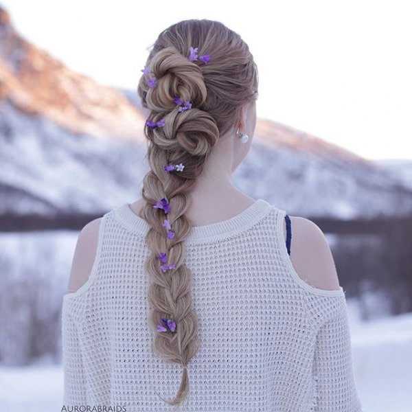 clothing, hair, hairstyle, lavender, fashion accessory,