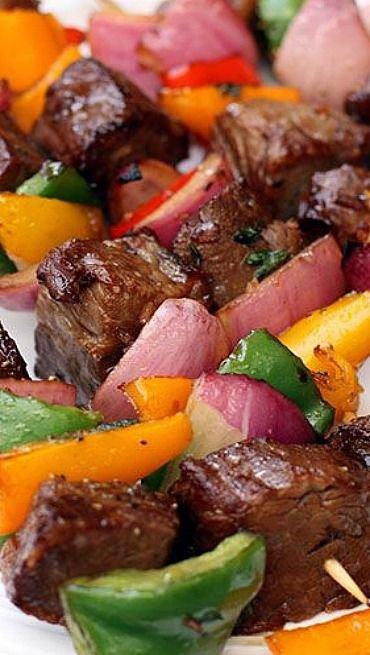 Grilled Marinated Steak Skewers Recipe — Dishmaps