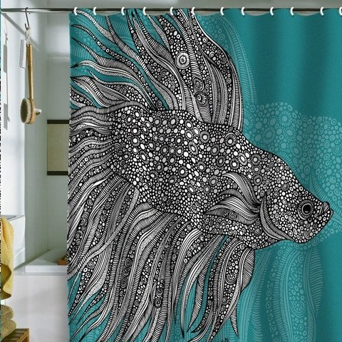 Big Fancy Fish 25 Fantastic Shower Curtains to Spice up