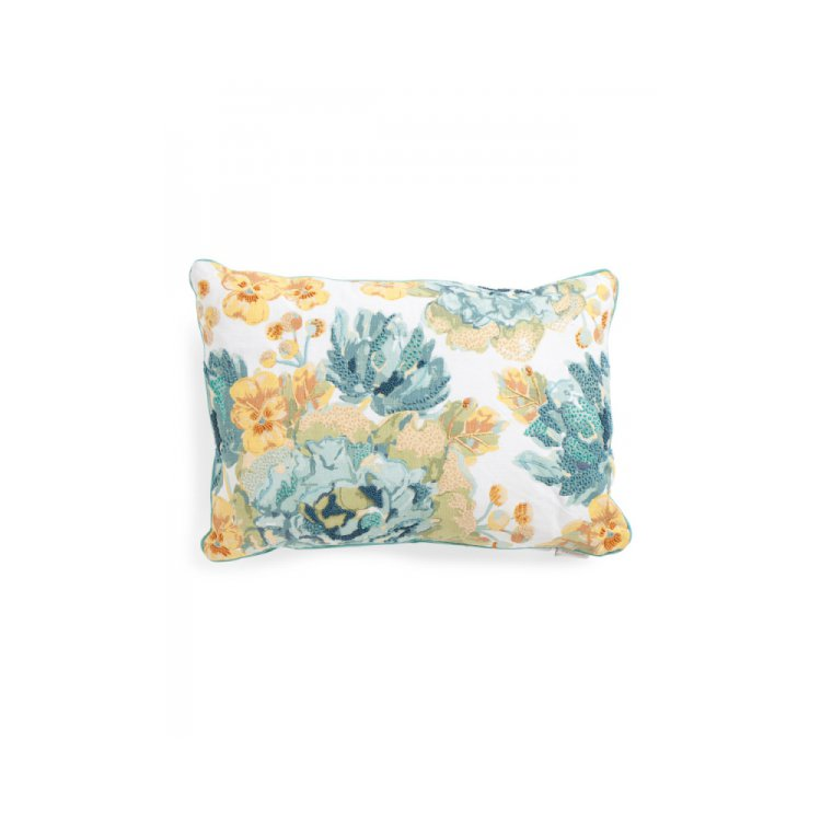Simply Envogue Decorative Pillow : Made in India 16x24 Beaded Floral Pillow by ENVOGUE. $24.99 - 95?