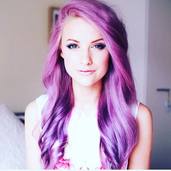 Her Perfect Purple Hair