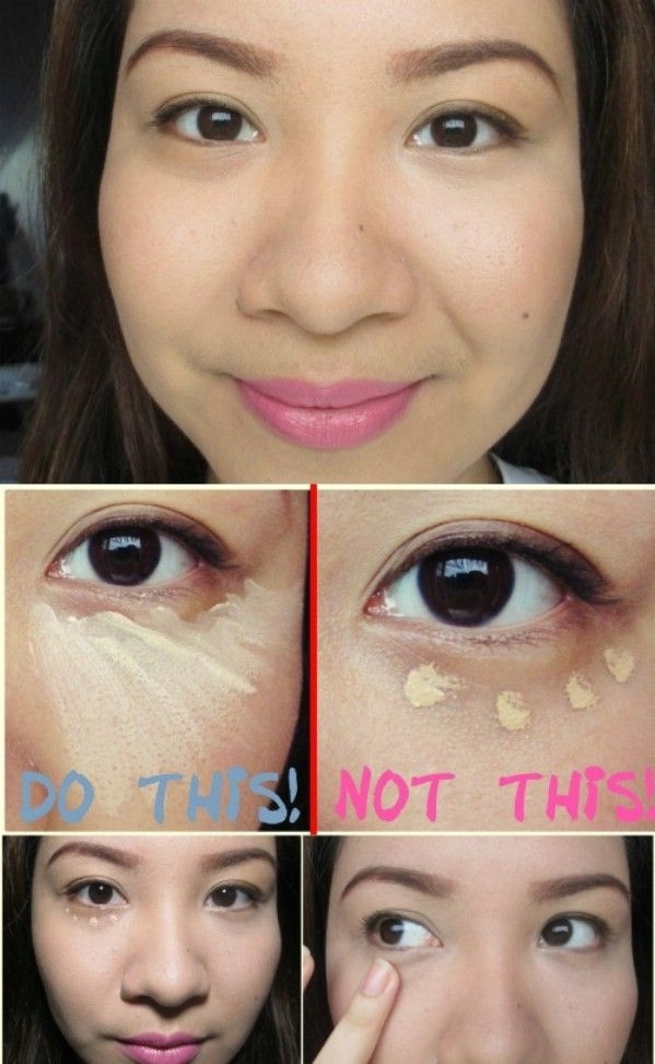 Apply Concealer in a Triangle Shape
