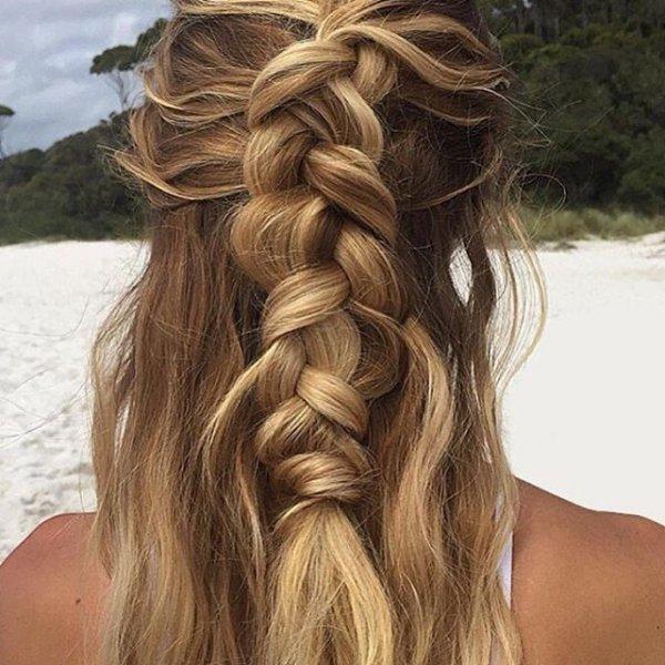 Her Messy Beach Braid