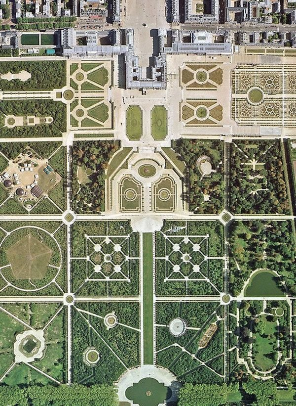 the gardens of versailles paris france bird 39 s eye views that. Black Bedroom Furniture Sets. Home Design Ideas