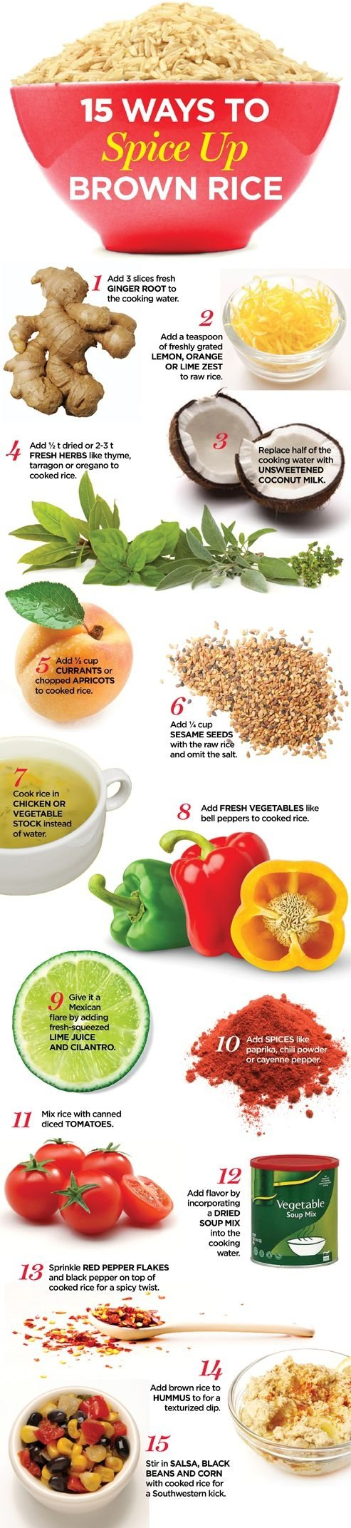 Brown rice isn 39 t boring 35 weight loss infographics to for 7 spices asian cuisine
