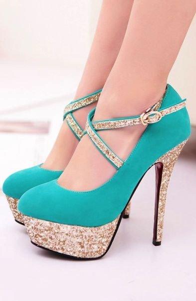 footwear,high heeled footwear,shoe,leg,electric blue,