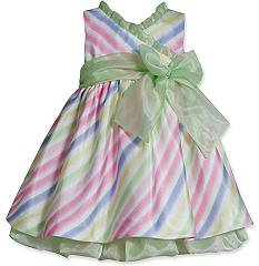 Bonnie Jean Stripe Shantung Dress