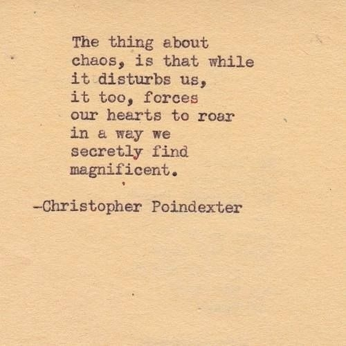 Chaos Forces Our Hearts