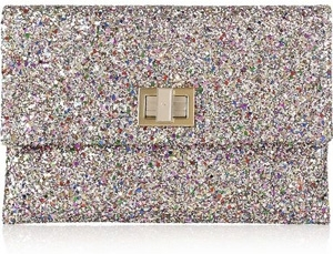 Anya Hindmarch Valorie Glitter Finish Clutch